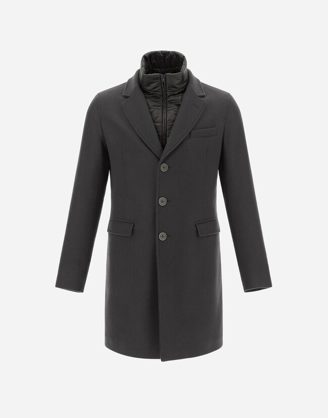 DIAGONAL WOOL COAT Herno 1