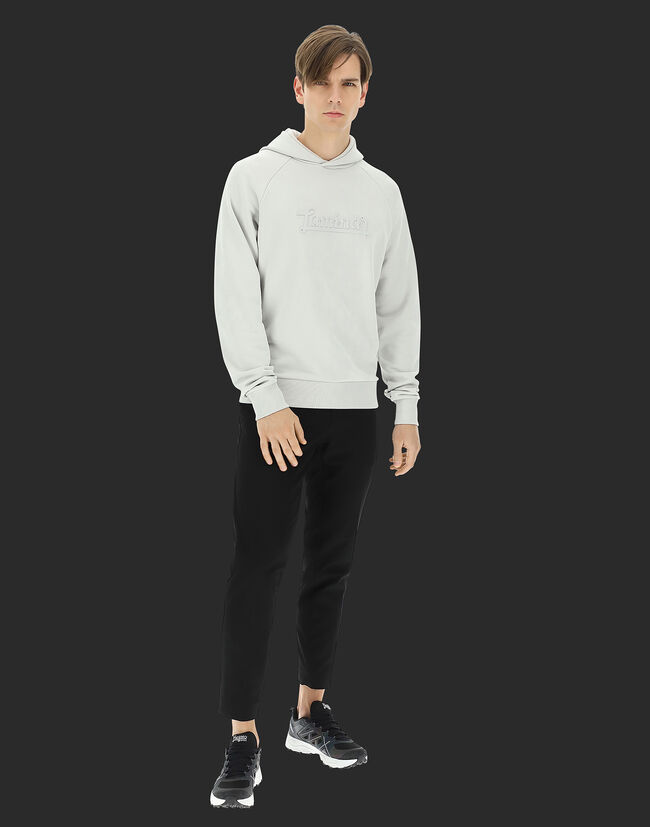 LAMINAR COTTON SWEATER HOODIE WITH LOGO Herno 1