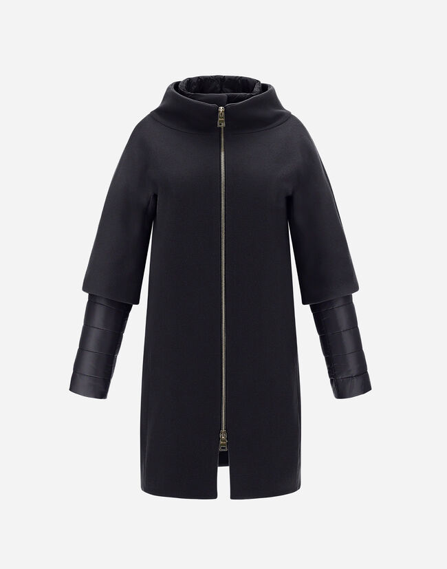 DIAGONAL WOOL AND NYLON ULTRALIGHT COAT Herno 1
