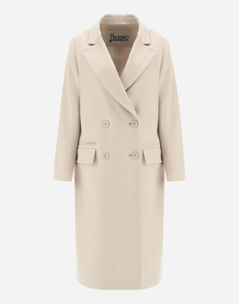 DOUBLE-BREASTED DIAGONAL WOOL COAT Herno