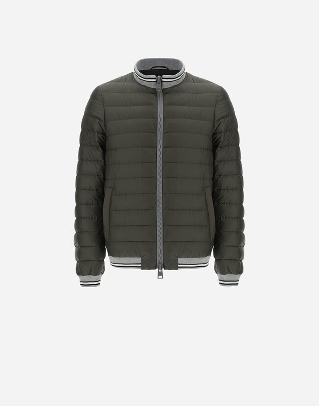 GLOBE FAST5DEGRADABLE BOMBER WITH KNIT DETAILS Herno 1