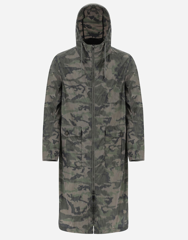 GLOBE BLURRED RECYCLED CAMOUFLAGE PARKA Herno 1