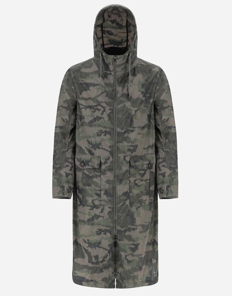 GLOBE BLURRED RECYCLED CAMOUFLAGE PARKA Herno