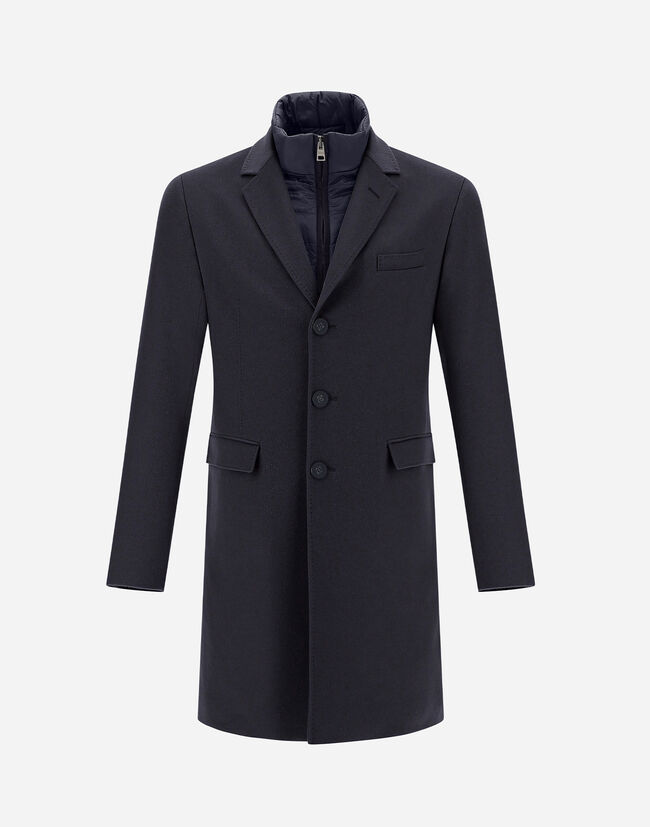 CASHMERE COAT WITH NYLON ULTRALIGHT BIB Herno 1