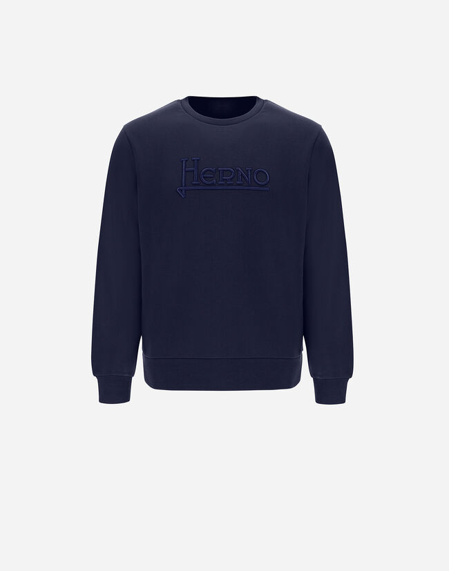 COTTON SWEATSHIRT WITH EMBROIDERY Herno 1
