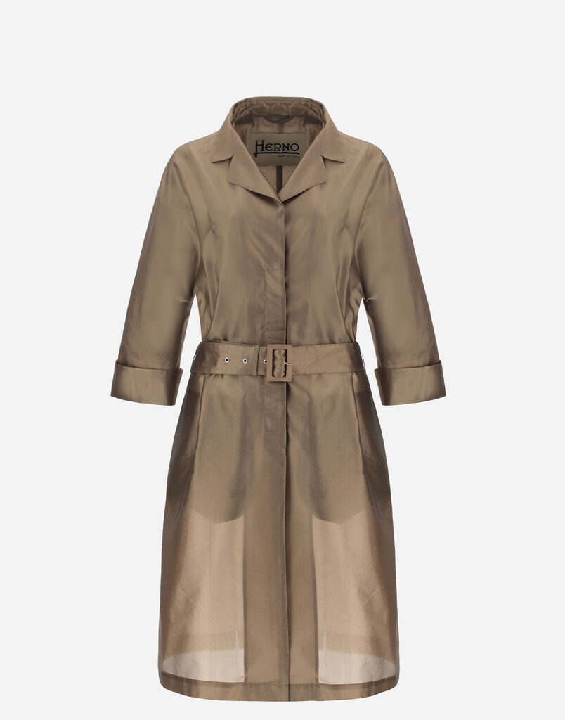OVERSIZE CLEARLY COAT WITH BELT Herno