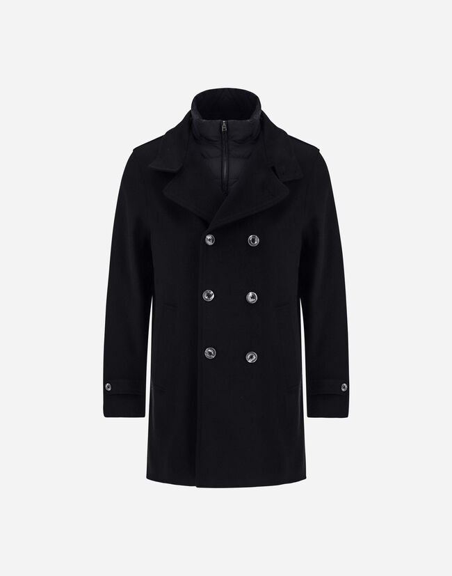 NEW WOOL CASHMERE PEACOAT Herno 1