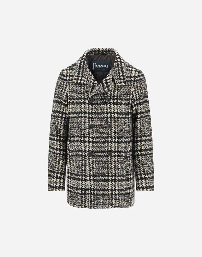 VINTAGE CHESS PEACOAT Herno 1