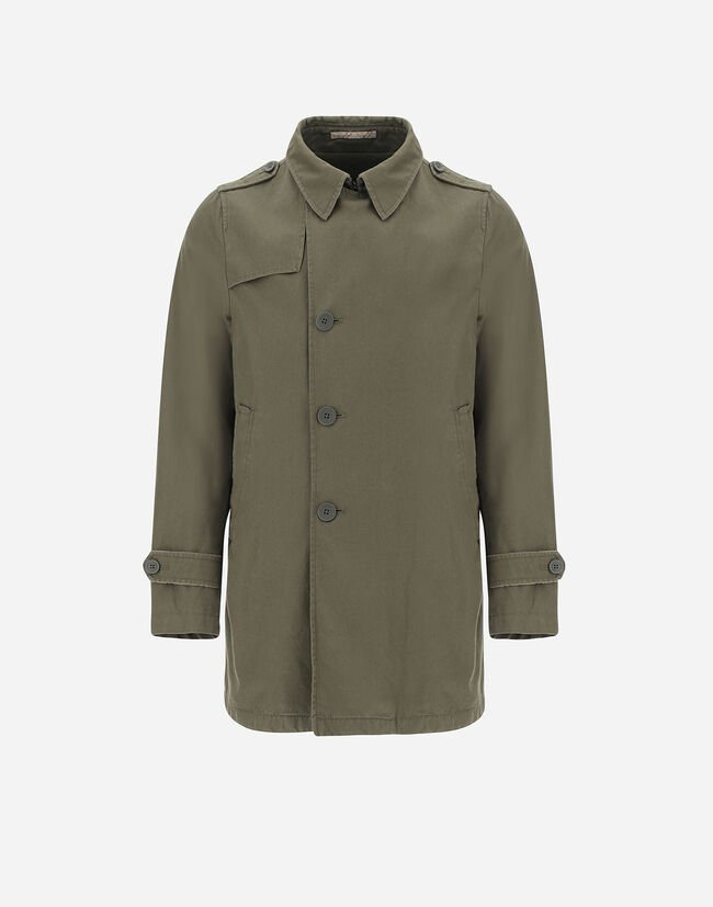 DELON WASHED PEACOAT WITH MONOGRAM Herno 1