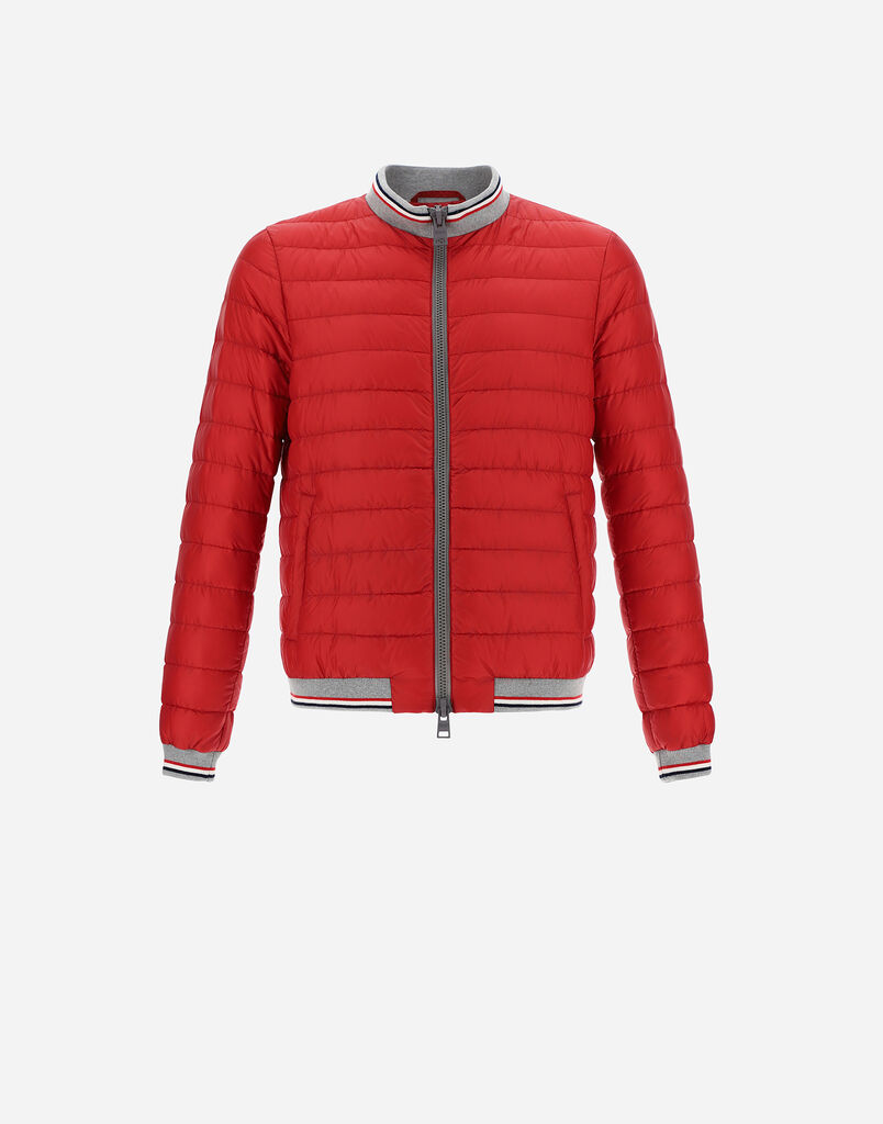 GLOBE FAST5DEGRADABLE BOMBER WITH KNIT DETAILS Herno